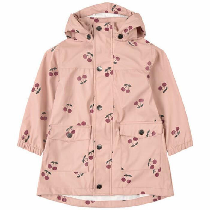 rosa regnjacka till barn kuling