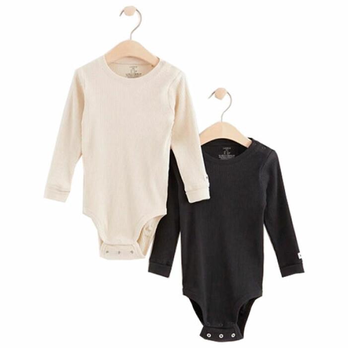billiga och fina barnkläder - bodys för bebis i flerpack från Lindex