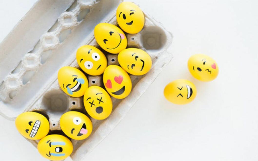 Påskägg med emojis
