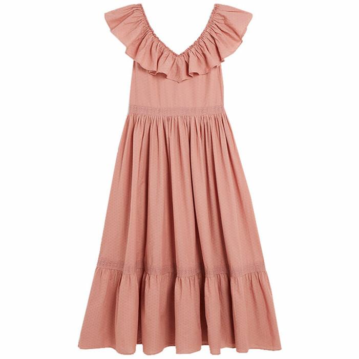 matchande rosa klänningar till mamma och barn sommaren 2021