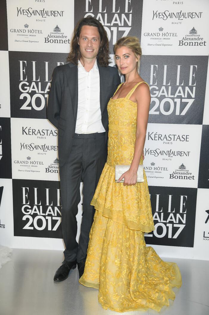 Fredrik och Cecilia forss på ELLE-galan 2017.
