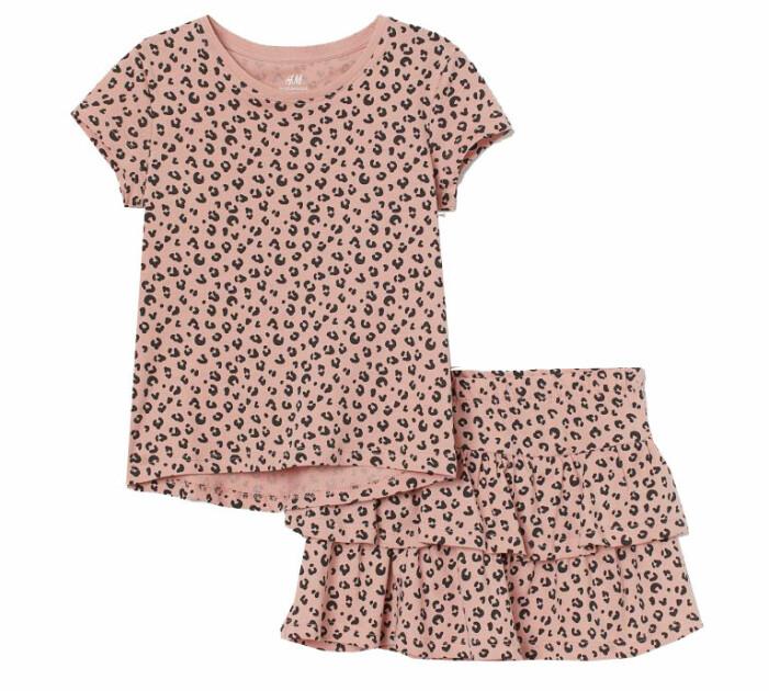 rosa kjol set barn