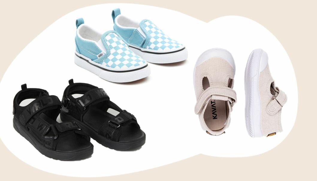 sommarskor och sandaler för barn