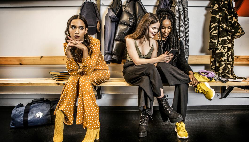 Klara, Felicia och Amie i Eagles