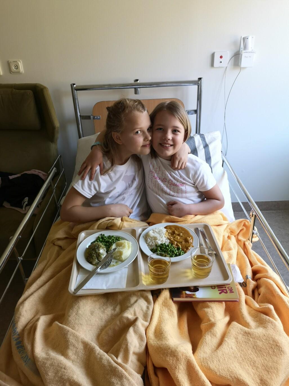 Elsa och Ellen hade samma sjukdom, nefrotiskt syndrom.