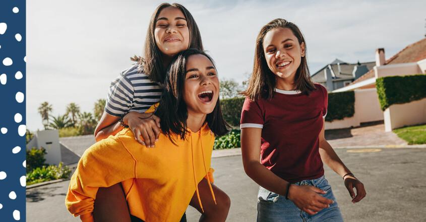 Glada tonåringar