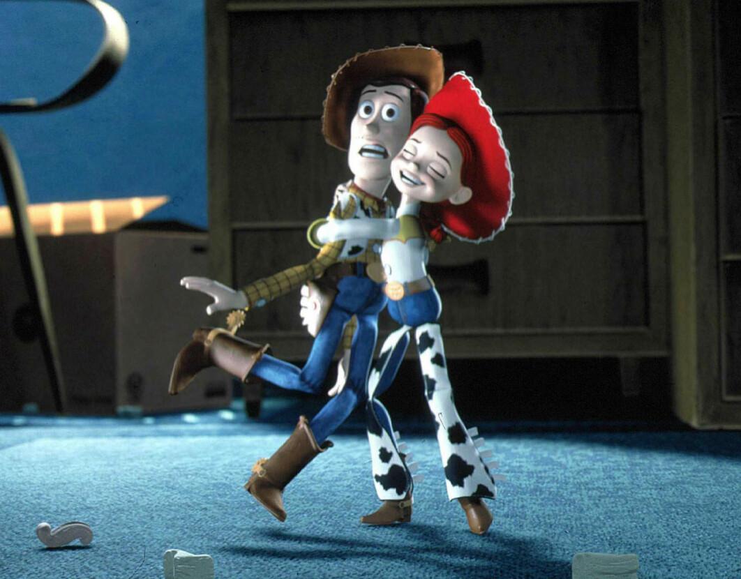 Woody och Jessie i Toy Story 2.
