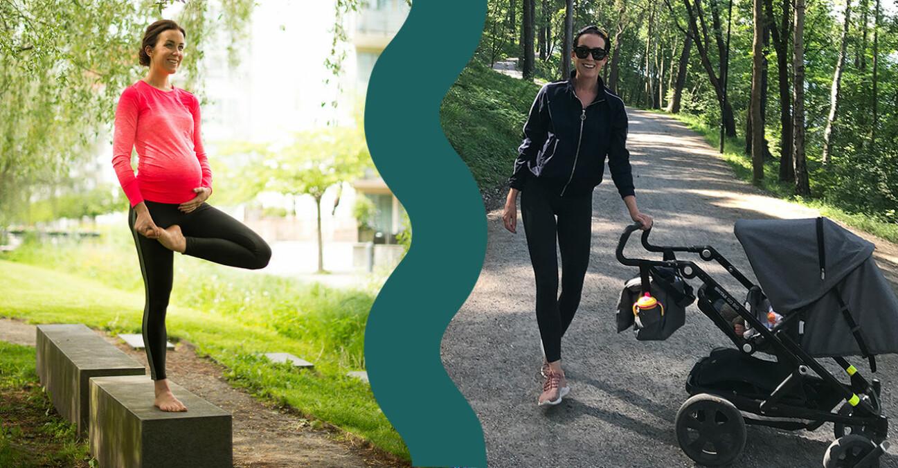 PT-Fia gravid och med barnvagn