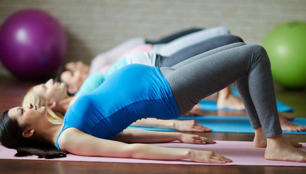 Träna under graviditeten bra för barnet.