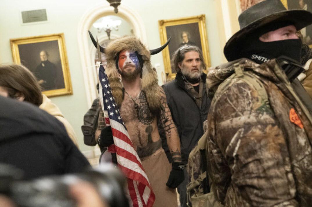 Trumpanhängare i Kapitolium