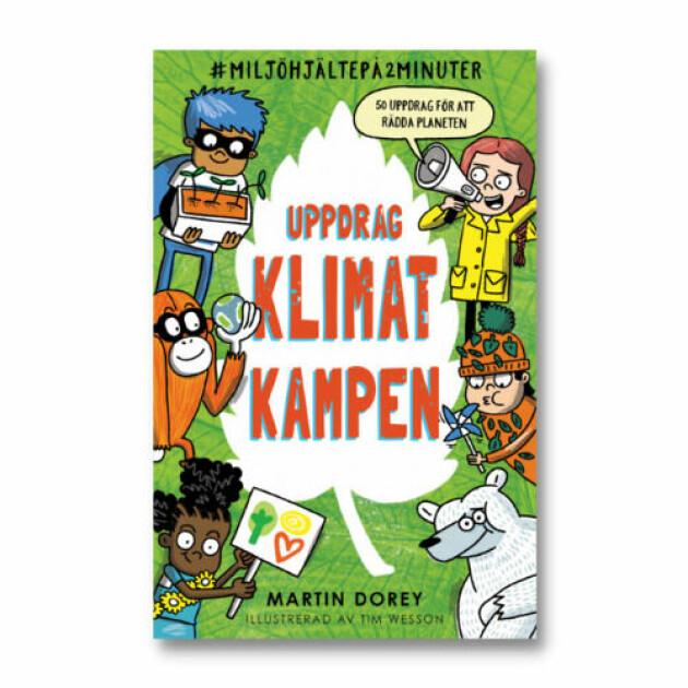 """Bild på boken """"Uppdrag klimat kampen""""."""