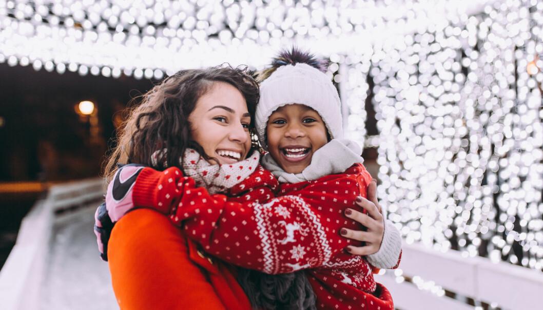 mamma och dotter på jullovet 2021
